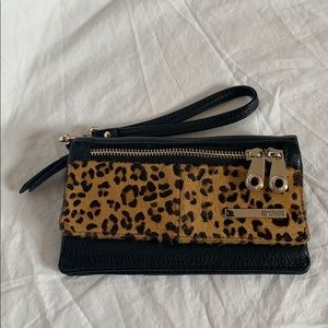 Kenneth Cole reaction cheetah print clutch/wallet